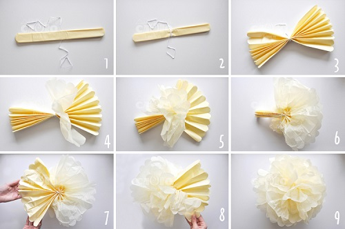 Как сделать помпон из бумаги
